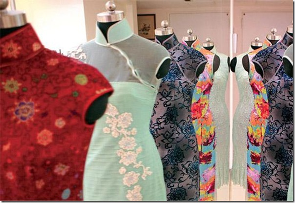Cheongsams come in a multitude of designs and fabrics
