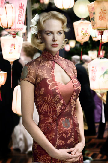 "Nicole Kidman wears beautiful cheongsams in the movie ""Australia"""