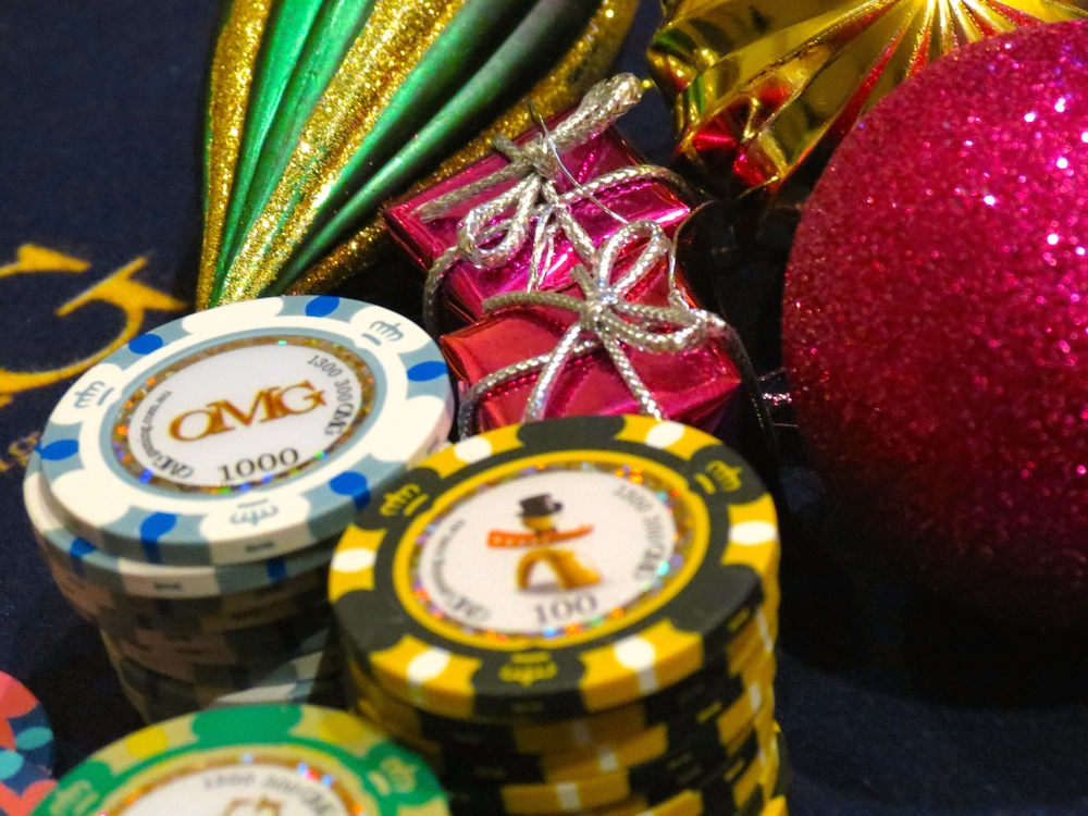Christmas casino party theme